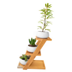 Wooden Stand With Decorative Pots
